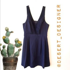 BCBG Navy Tank Fit and Flare Dress size 2